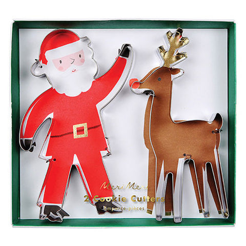 Santa & Reindeer Cookie Cutter