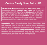 Cotton Candy Sour Belts Candy