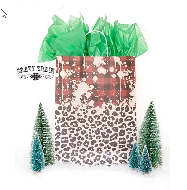 Plaid & Leopard Gift Bag