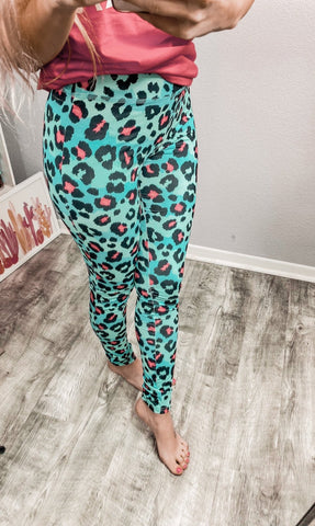 Lisa Cheetah Pink Leggings