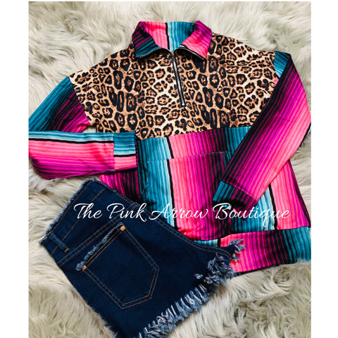 Lookin' For Leopard Pullover - The Pink Arrow Boutique