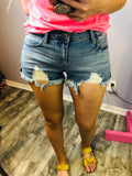 Harley Distressed Cuff Shorts