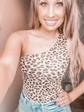 Cheetah One Shoulder Bodysuit