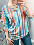 Serape Strappy Top