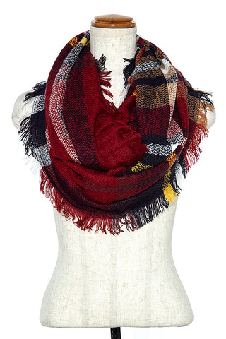 Infinity Scarf - Burgundy - The Pink Arrow Boutique
