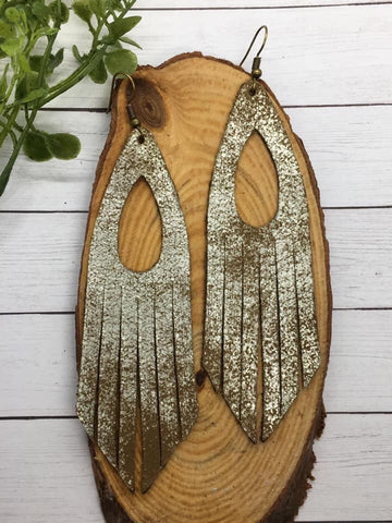 Brown Sugar Fringe Earrings - The Pink Arrow Boutique