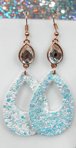 Druzzy Crystal White Earrings