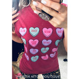 Texas Valentine Heart Tee - The Pink Arrow Boutique