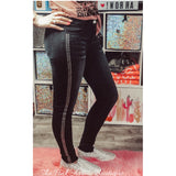 Black Acid Studded Kelsey Jeans - The Pink Arrow Boutique