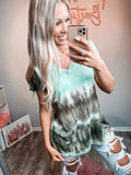 Olive Waves of Tie Dye - The Pink Arrow Boutique