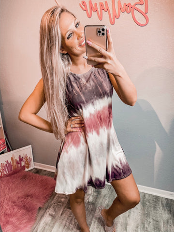 Muave Ombre Dress