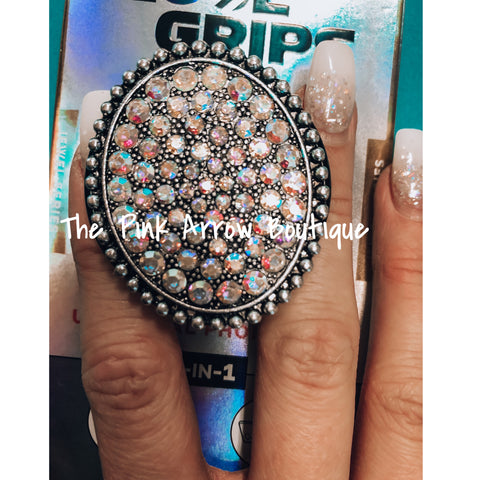 Rhinestone Phone Grip & Stand - The Pink Arrow Boutique