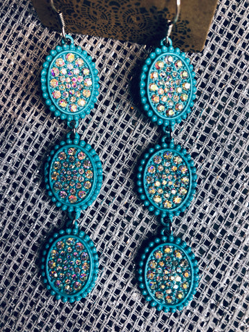 Turquoise Dangle AB Earrings