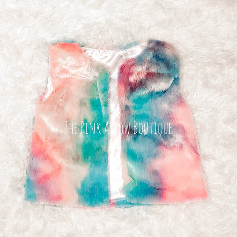 Tie Dye Vest - Kids - The Pink Arrow Boutique