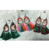 Santa Tassel Earrings (3 color options) - The Pink Arrow Boutique
