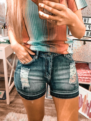 American Girl Denim Shorts - The Pink Arrow Boutique