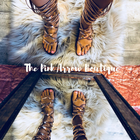 Gladiator Sandals - The Pink Arrow Boutique