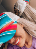 Serape Criss Cross Ponytail Hat