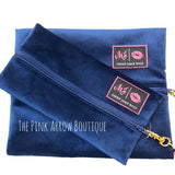 Colbalt Velvet MJ Bags - The Pink Arrow Boutique