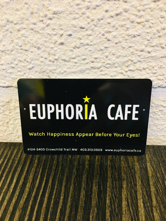 Euphoria Cafe Physical Gift Card
