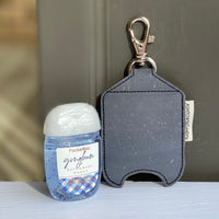 Hand Sanitizer Holders - Charcoal Cork