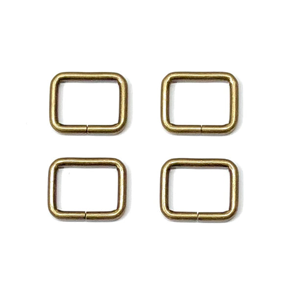 "Rectangle Rings - 1"" (25mm) - 4 pack"