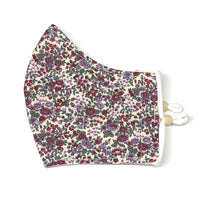 Adult Face Masks - Small/Teen - Floral in Maroon & Purple