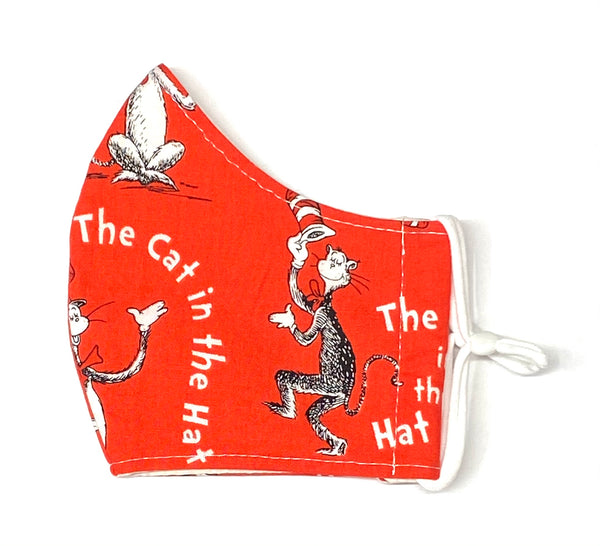 Adult Face Masks - Small/Teen - Cat in the Hat in Red