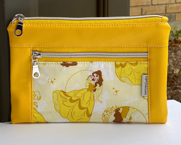 Devon Pouch - Regular - Belle (Beauty & the Beast) Cotton
