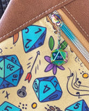 Dayna Pack - D&D Dice w/ Tan Faux Leather