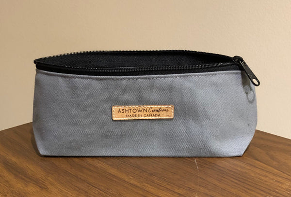Canvas Pencil Case - Charcoal Grey