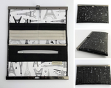 Rosalyn Wallet - Eiffel Tower in Black & Silver