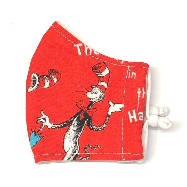 Child Face Masks (3-6yrs) - Cat in the Hat in Red