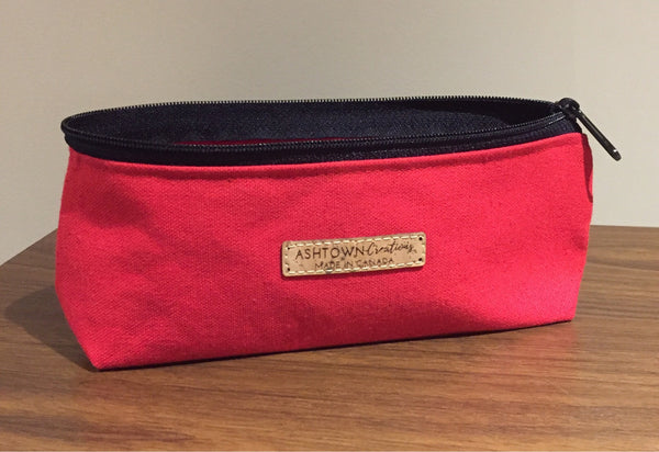 Canvas Pencil Case - Red
