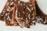 Tasty Good Toffee Dark Chocolate Sea Salt Toffee :: Small batch, handmade in Lincoln, Nebraska. Buy Dark Chocolate Sea Salt Toffee