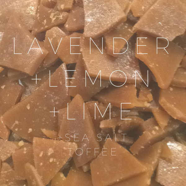 Lavender+Lemon+Lime Naked Toffee :: Half Pound