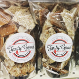 Tasty Good Toffee White Chocolate Pecan Toffee :: Small batch, handmade in Lincoln, Nebraska. Buy White Chocolate Pecan Toffee