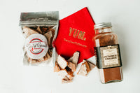 Tasty Good Toffee White Hot! Toffee :: Small batch, handmade in Lincoln, Nebraska. Vietnamese Cinnamon and Ghost Pepper Toffee. Buy White Hot! Toffee