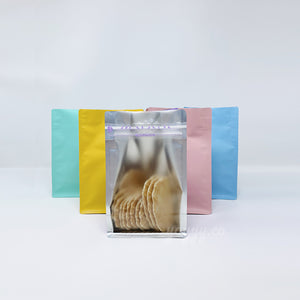 colorful clear bag