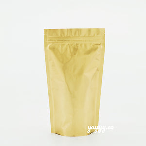 Gold stand up pouch