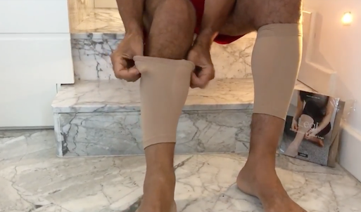 Large Size Legi is here! It's not just for the girls though...  Watch this video of a man measuring and fitting a pair of Large Legi.