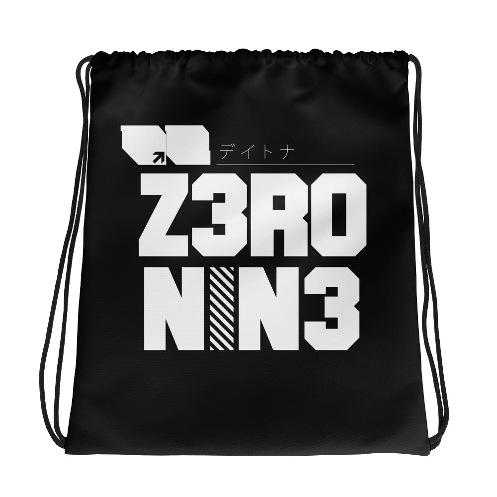 Drawstring bag // Nightmare Black - Zero Nine