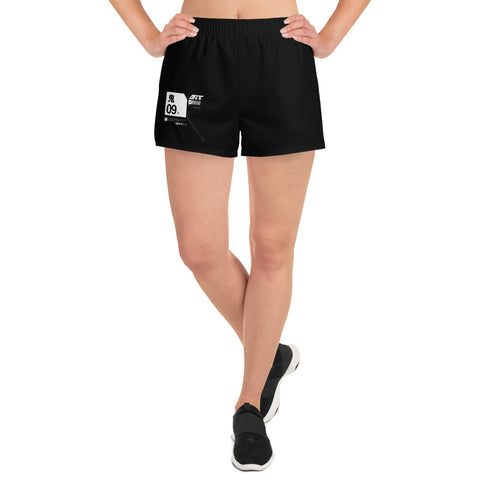 Women's Tech Shorts  // Nightmare Black - [ 09 ]
