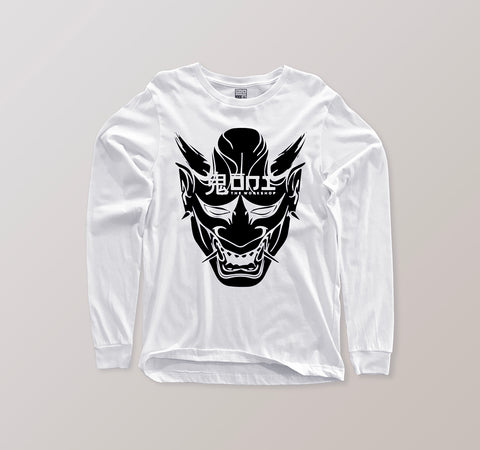 Long Sleeve - Oni 黒鬼 - White X Kush