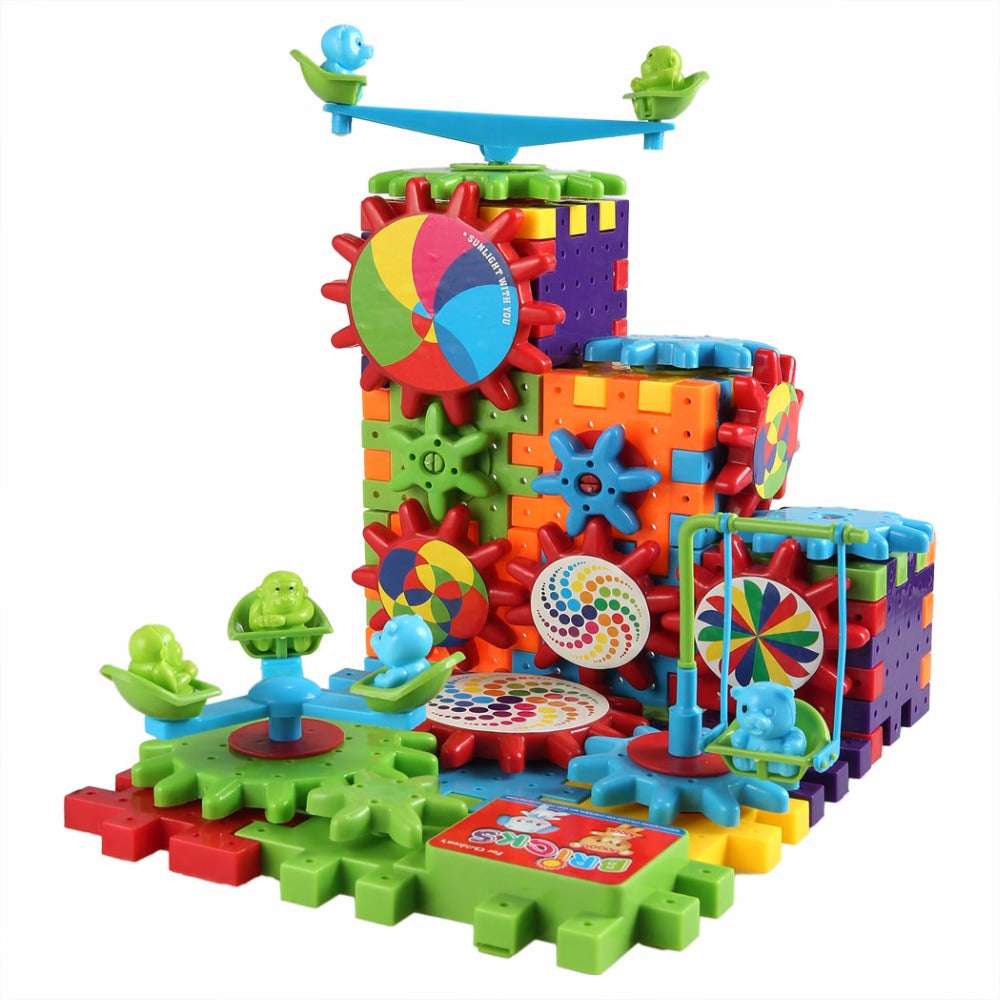 Amazing Gears - Motorised Building Sets - Aged 3+ (81 Pieces)