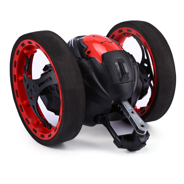 Mini Cars Bounce Car PEG SJ88 2.4GHz RC Car with Flexible Wheels Rotation LED Light Remote Control Robot Car
