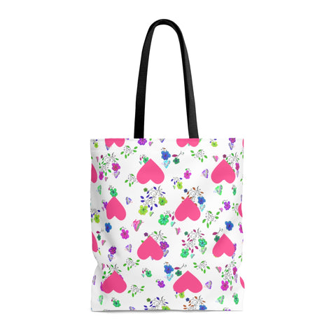 Butterfly and Floral Tote Bag