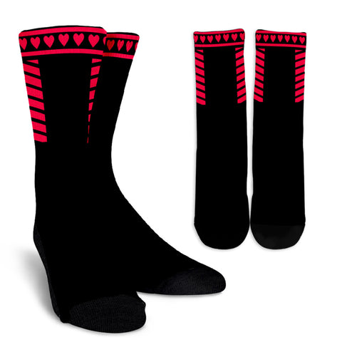 Black and Red Crew Socks