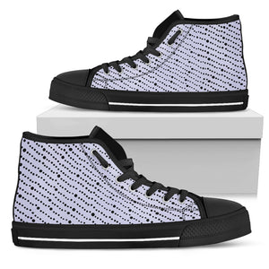 Womens High Top Canvas Shoe Steel Gray