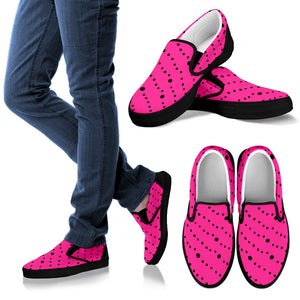 Womens Slip Ons Pink Floating Bubbles Collection Shoes